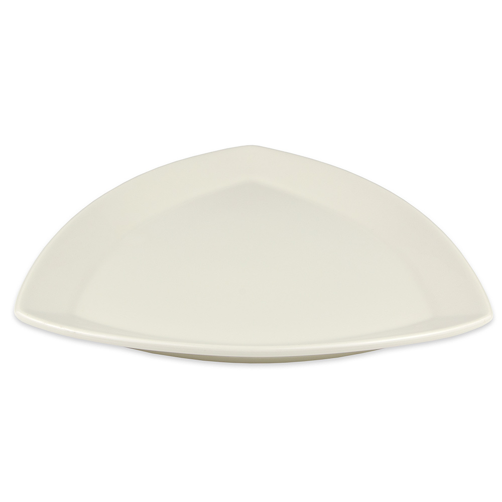 """Homer Laughlin 58500 12"""" Triangle Times Square Plate - China, Ivory"""