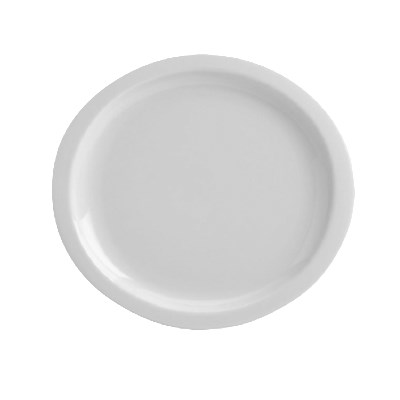 "Homer Laughlin 58810000 11.25"" Round Newell Plate - China, Arctic White"