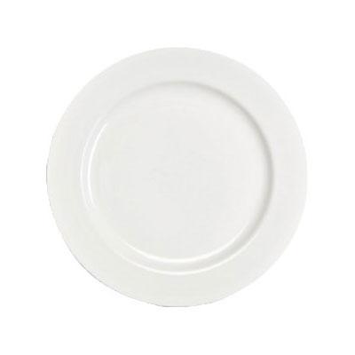"Homer Laughlin 6396000 10.63"" Round Pristine Plate - China, Ameriwhite"