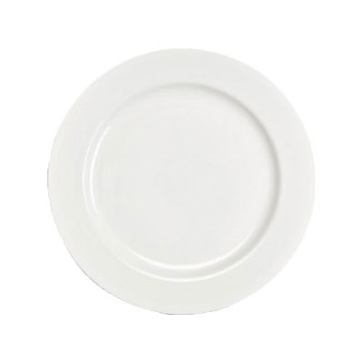 "Homer Laughlin 6406000 11.13"" Round Pristine Plate - China, Ameriwhite"