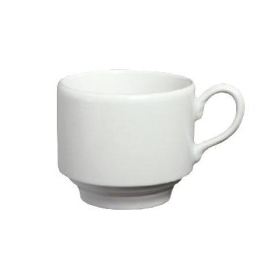Homer Laughlin 6536000 7-oz Pristine Stackable Tea Cup - China, Ameriwhite