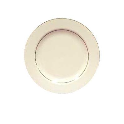 "Homer Laughlin 7101409 12.25"" Round Diplomat Gold Platter - China, Ivory"