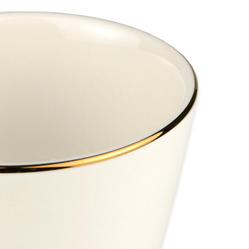 Homer Laughlin 7181409 7.5-oz Diplomat Gold Bouillon Bowl - China, Ivory