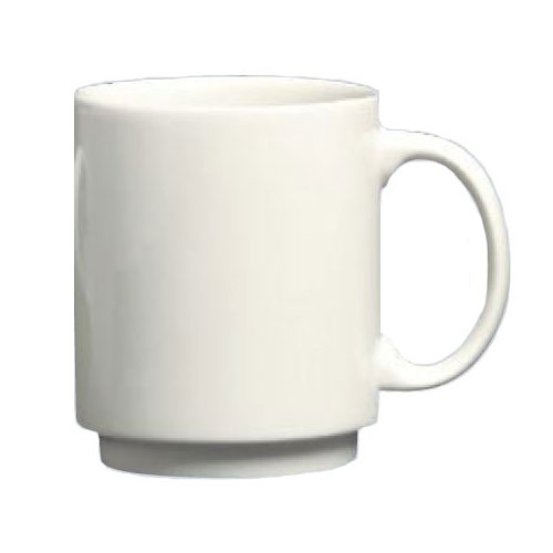 Homer Laughlin 90410000 11.5-oz Embassy Mug - China, Arctic White