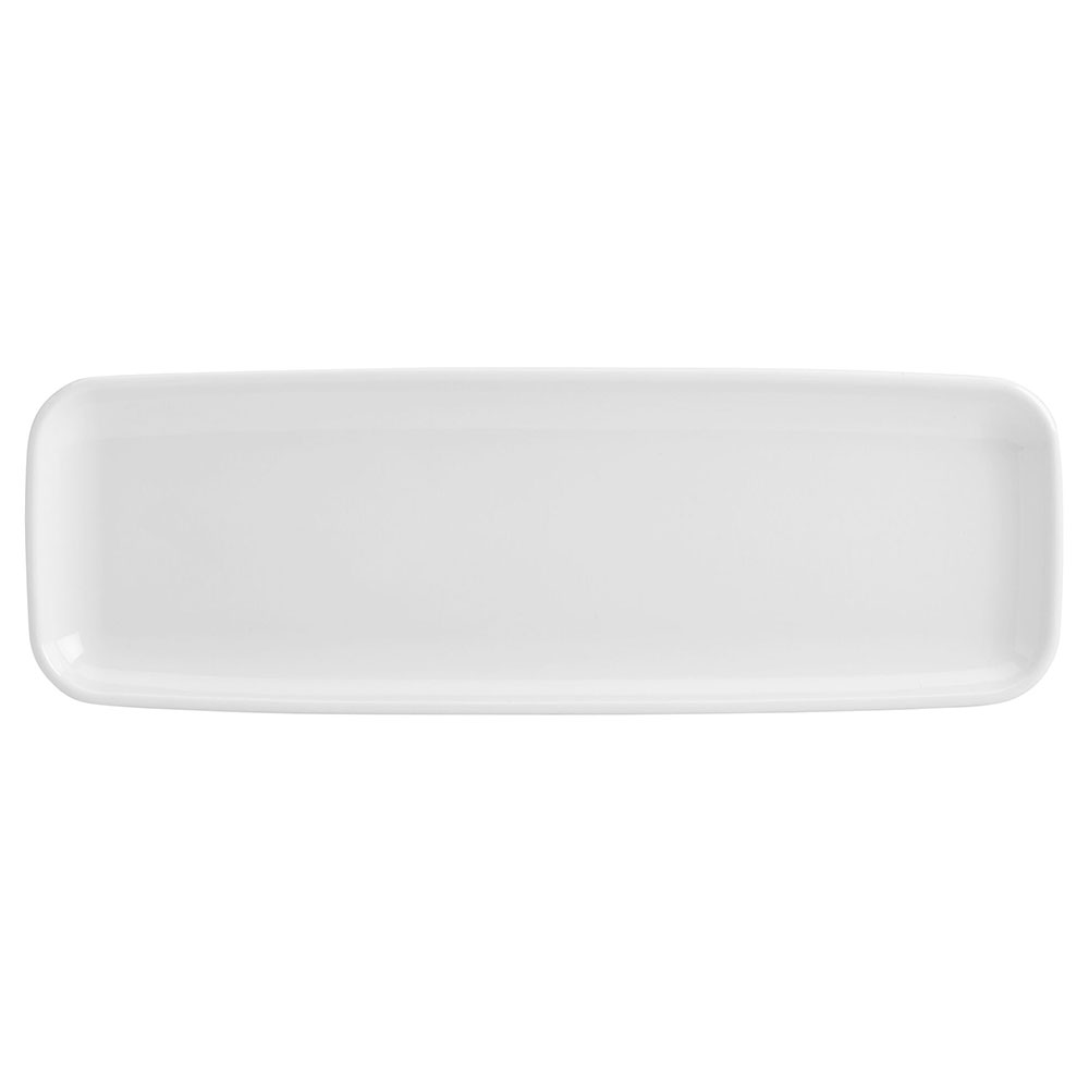 "Homer Laughlin 91410000 Rectangular Platter - 6"" x 18"", China, Arctic White"