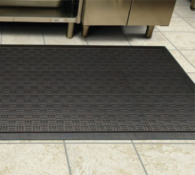 Andersen Mats 370-4-8.3 Cushion Station Slip Resistant Floor Mat, 4 x 8.3-ft, Black