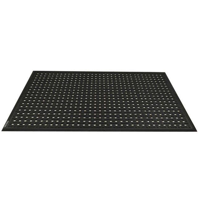 Andersen Mats 420-3-9 Comfort Flow Anti-Fatigue Mat w/ Drainage Holes, 3 x 9-ft, Black