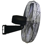 TPI CACU30W 30-in Wall Mount Fan w/ 3-Speed Settings