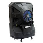 """TPI EVAP16HD 16"""" Portable Evaporative Cooler w/ 50-gal Water Reservoir - Black, 120v"""