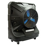 """TPI EVAP48HD 48"""" Portable Evaporative Cooler w/ 65-gal Water Reservoir - Black, 120v"""