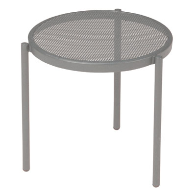 emu 100 ALU Disco Stacking Low Table, Steel Mesh Top, Aluminum