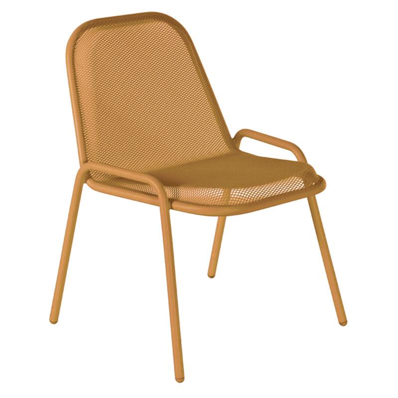 emu 133 Golf Stacking Side Chair - Indoor/Outdoor, Steel Frame, Orange