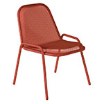 emu 133 Golf Stacking Side Chair - Indoor/Outdoor, Steel Frame, Red