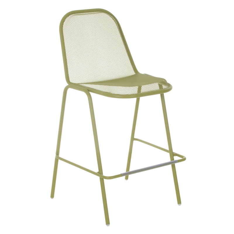 emu 135 Golf Stacking Bar Stool - Indoor/Outdoor, Steel Frame, Green