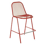 emu 135 Golf Stacking Bar Stool - Indoor/Outdoor, Steel Frame, Red