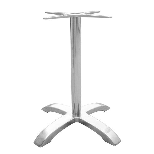 "emu 1361 Dining Height Table Base w/ 4-Cross Base & 26x26"" Spread, Cast Aluminum"