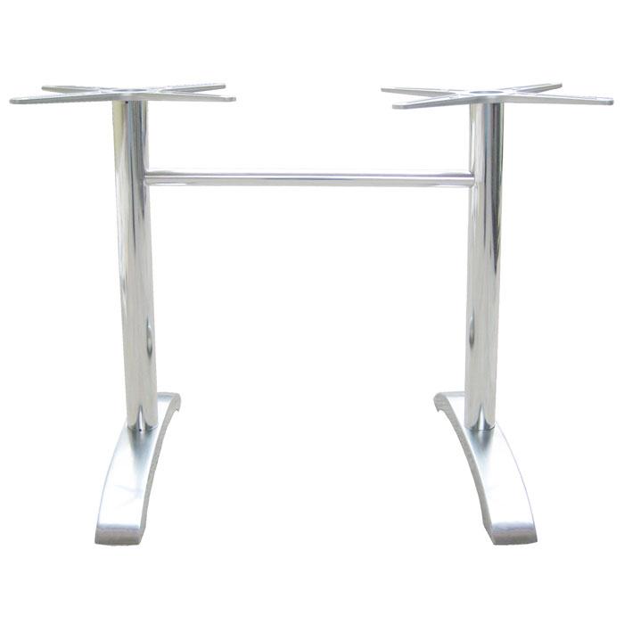 "emu 1363 Dining Height Table Base w/ 2-Leg Base & 26x26"" Spread, Cast Aluminum"