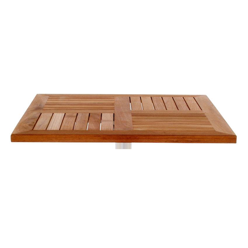 "emu 1450 Tom Table Top, 24"" Square, Natural Teak"