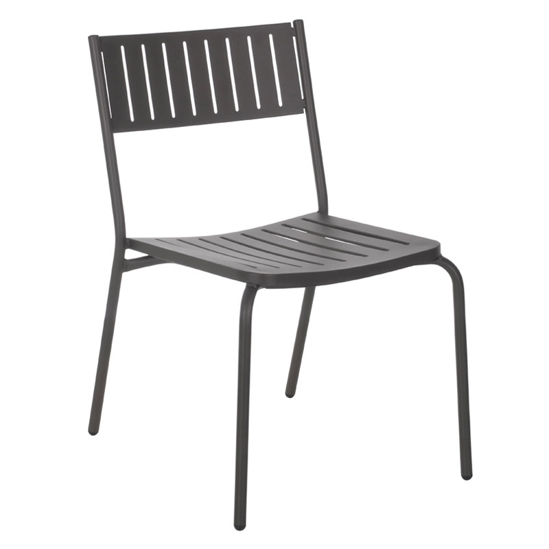 emu 146 Bridge Stacking Side Chair - Indoor/Outdoor, Steel Frame, Bronze