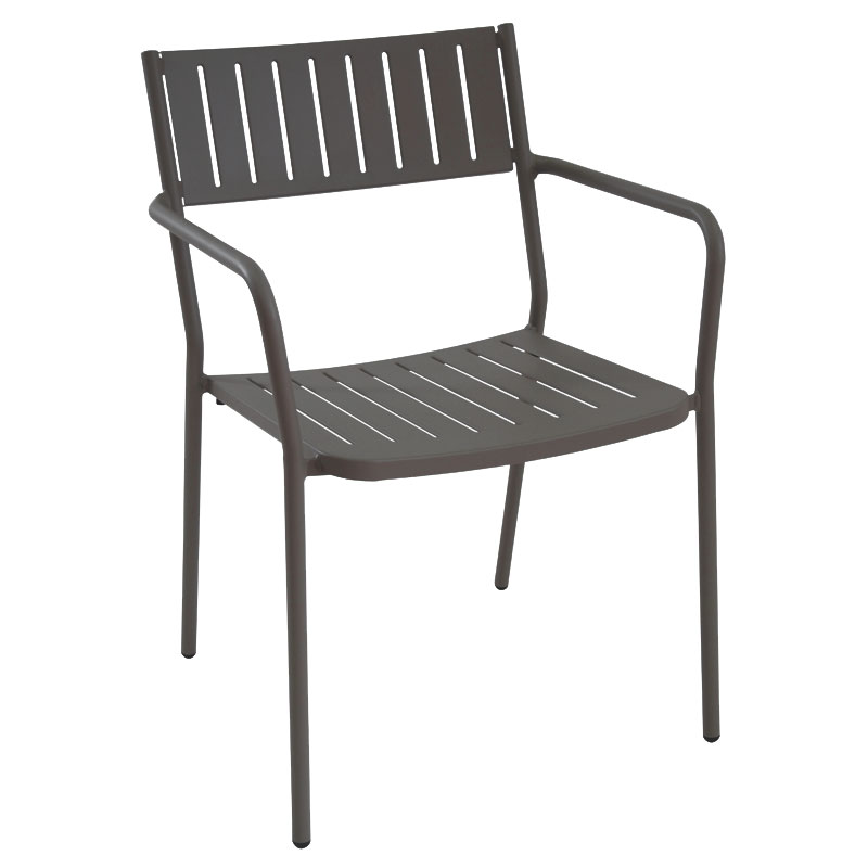 emu 147 Bridge Stacking Armchair - Indoor/Outdoor, Steel Frame, Bronze