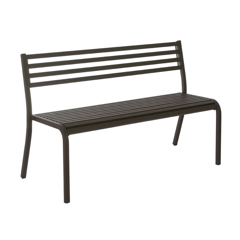 "emu 158 50-1/2"" Segno Stack Bench - Indoor/Outdoor, Steel Frame, Bronze"