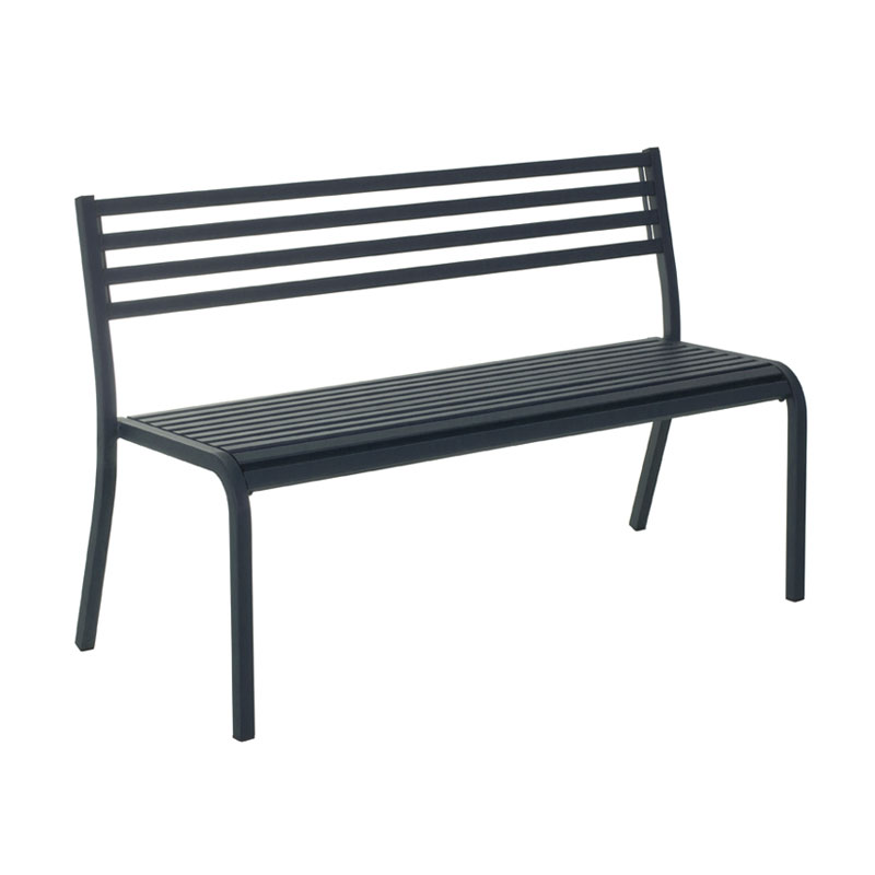 "emu 158 50-1/2"" Segno Stack Bench - Indoor/Outdoor, Steel Frame, Iron"