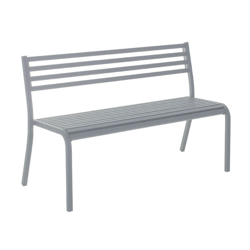 "emu 158 50-1/2"" Segno Stack Bench - Indoor/Outdoor, Steel Frame, Aluminum"