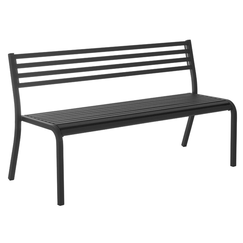 "emu 159 66"" Segno Stack Bench - Indoor/Outdoor, Steel Frame, black"