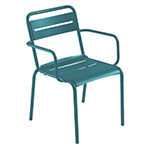 emu 162 Star Stacking Armchair - Indoor/Outdoor, Steel Frame, Blue