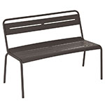 "emu 163 ABRONZE 46.5"" Stacking Bench w/ Steel Slat Seat & Back, Tubular Steel Frame, Bronze"