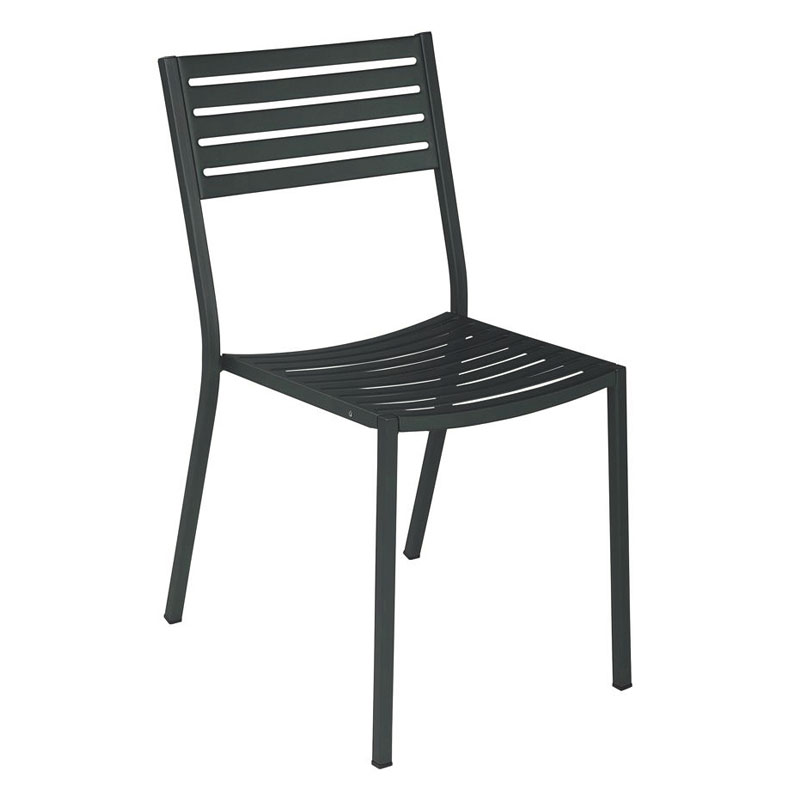 EMU 263 AIRON Segno Side Chair, Slatted, Square Tubular F...