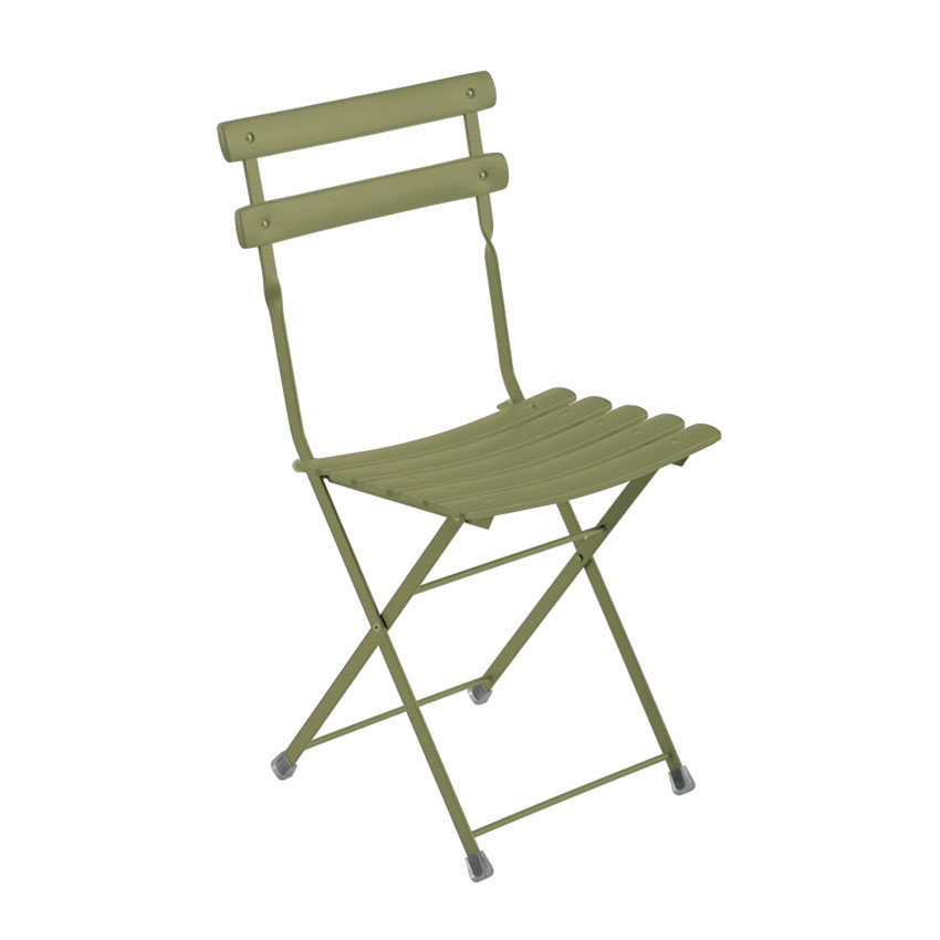emu 314 Arc En Ciel Folding Side Chair - Indoor/Outdoor, Steel Frame, Green