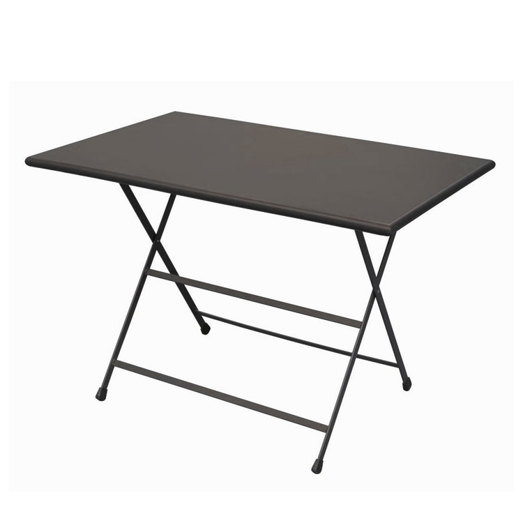"emu 331 44"" Rectangular Folding Table w/ Solid Top, Bronze Finish"