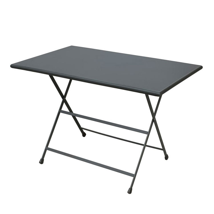 emu 331 AIRON 44-in Rectangular Folding Table w/ Solid Top, Iron