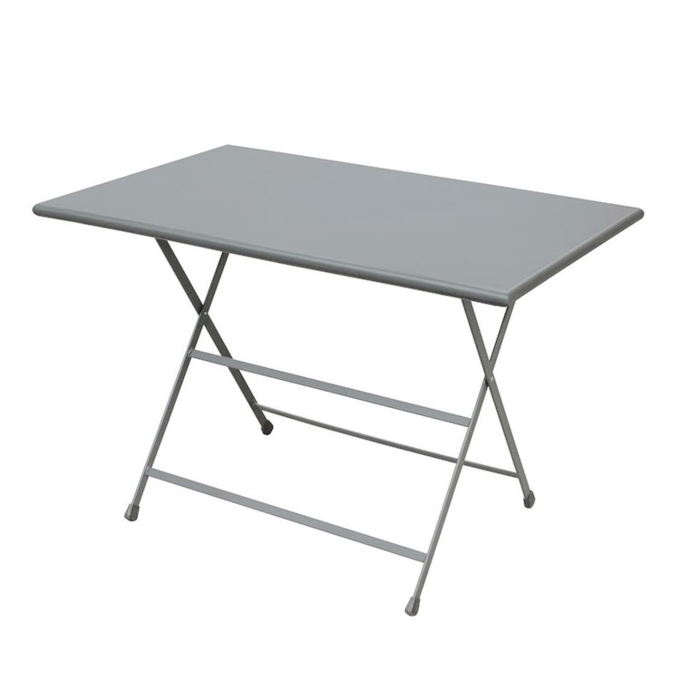 "emu 331 ALU 44"" Rectangular Folding Table w/ Solid Top, Aluminum"