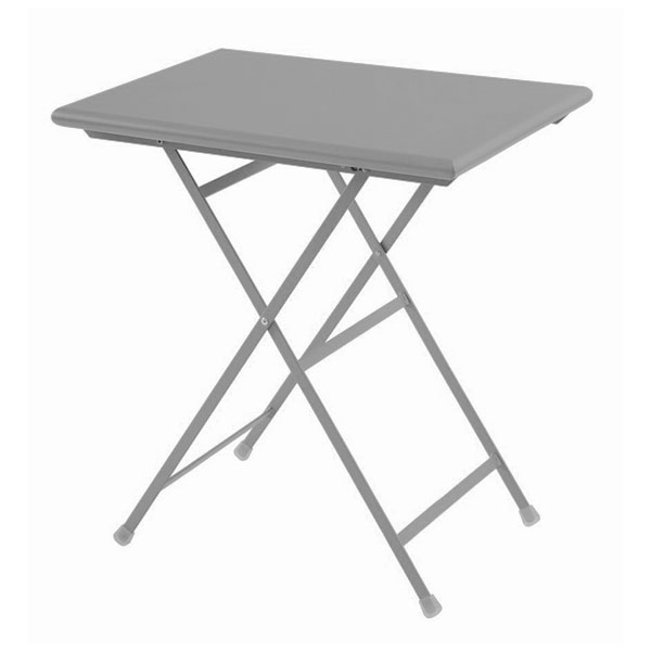 "emu 334 ALU 28"" Rectangular Folding Table w/ Solid Top, Aluminum"