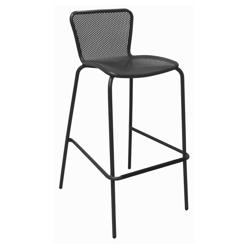 Emu 335 Stacking Barstool W Perforated Steel Mesh Back