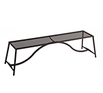 EmuAmericas 3434 Backless Bench w/ Steel Design Pattern Seat, Tubular Frame
