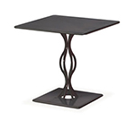 Emuamericas 3441 30-in Square Table w/ Solid Steel Pedestal & Top, Bronze