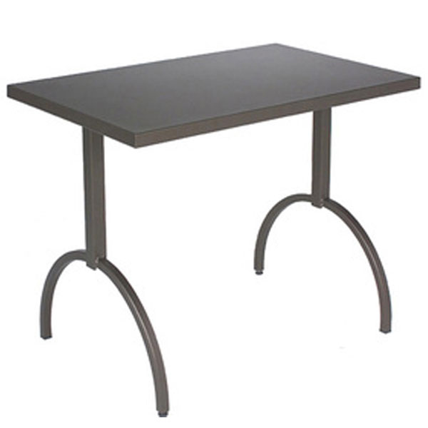 "emu 3521 AIRON ADA Segno Table, 38 W x 23""D, Square Frame, Iron"