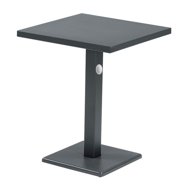 "emu 472K AIRON 24"" Square Lock Table, Column & Pedestal, Iron"