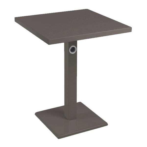 "emu 473K 32"" Square Lock Table, Column, Pedestal, Bronze"