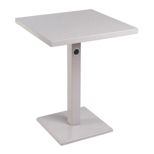 "emu 473K ALU 32"" Square Lock Table, Column & Pedestal, Aluminum"