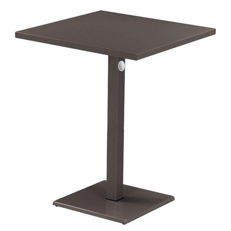 "emu 473KH 32"" Lock Square Bar Table - Indoor/Outdoor, Steel, Bronze"