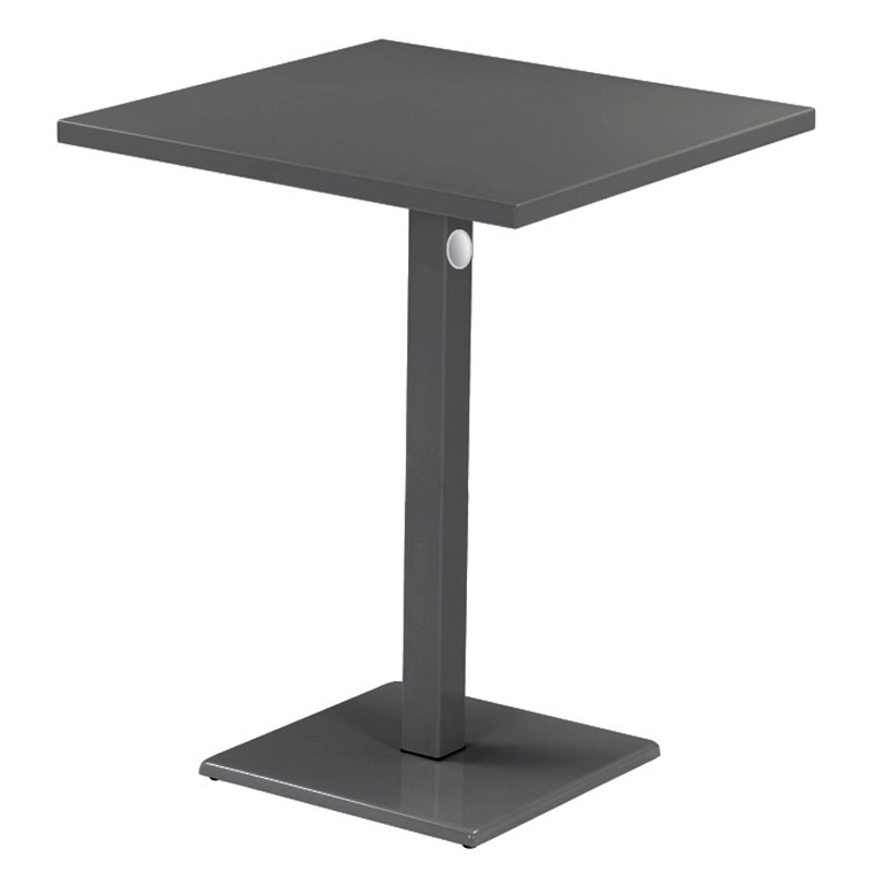 "emu 473KH 32"" Lock Square Bar Table - Indoor/Outdoor, Steel, Iron"