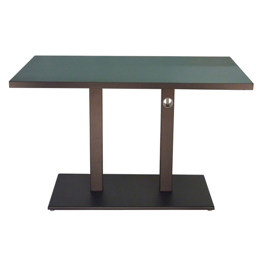 "emu 474K 48"" Rectangular Lock Table w/ Solid Top & Pedestal, Bronze"