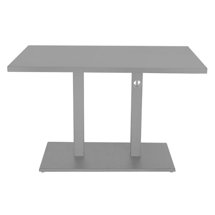 Emuamericas 474K ALU 48-in Rectangular Lock Table w/ Solid Top & Pedestal, Aluminum