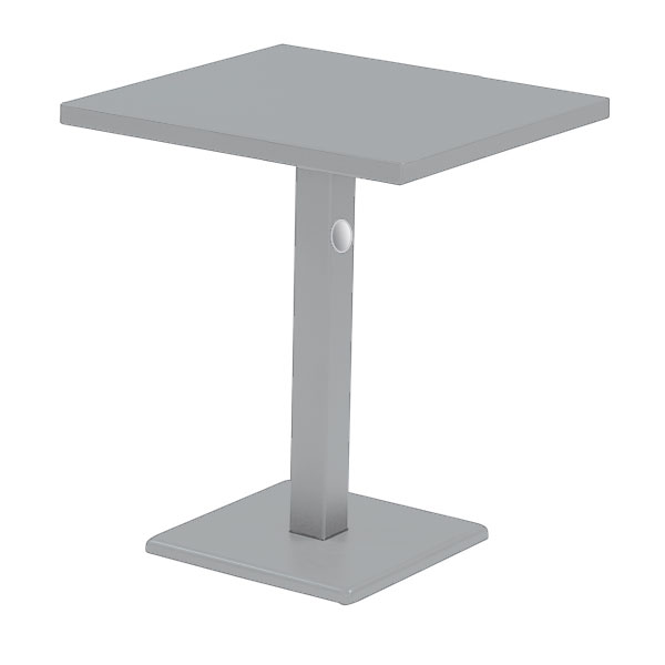 emu 476K ALU 28-in Rectangular Lock Table w/ Solid Top & Pedestal, Aluminum