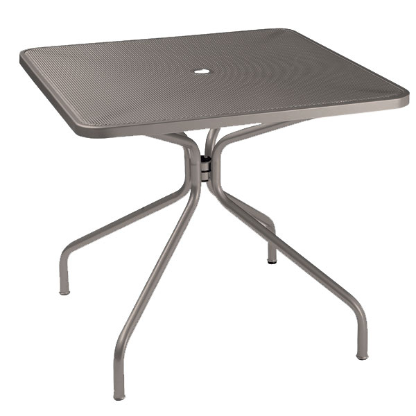 "emu 802 Cambi Table, 36"" Square, Umbrella Hole, Mesh Top, Bronze"