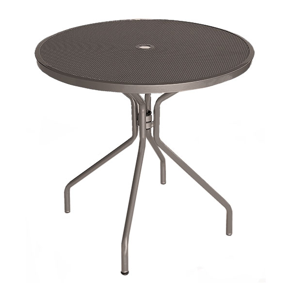 "emu 803 Cambi Table, 32""Diameter, Umbrella Hole, Mesh Top, Bronze"